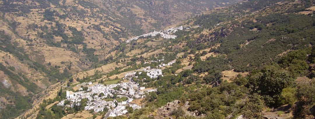 Blick auf die Südseite der Sierra Nevada