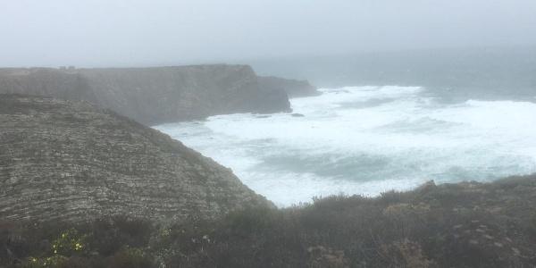 Cliffs at Ponta da Atalaia.
