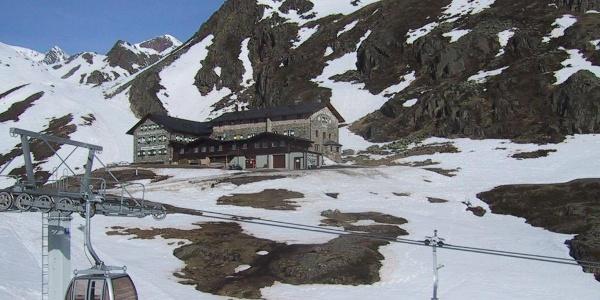 Dresdner Hütte von der Mittelstation
