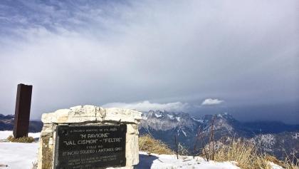 In cima al Monte Pavione