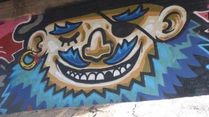 Grafiti in einer Unterführung an der A40, Kreuz Kaiserberg
