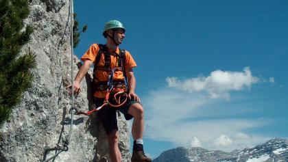 Schweißtreibender Aufstieg am Schuastagangl.
