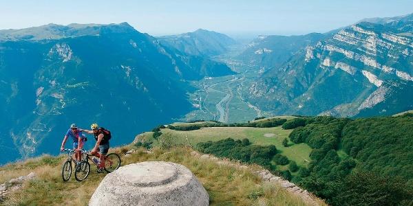 Biker sul Monte Vignola