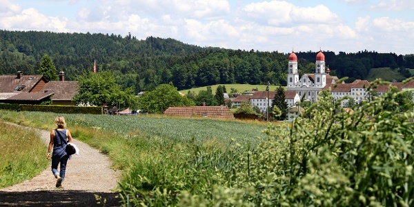 Auf dem Weg zum Kloster St. Urban.