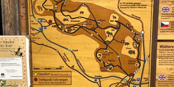 Karte des Tier-Freigeländes