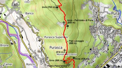 Cartina del percorso con dettagli