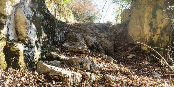 Un esempio di fondo sul sentiero 409B