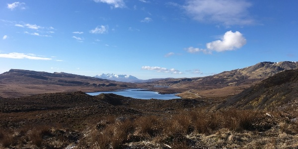 Looking back to the Cuillin Ridge