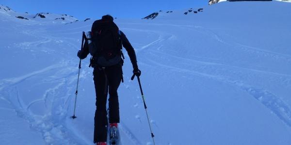 Aufstieg zur Langtalereckhütte 2430m
