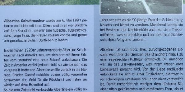Geschichte der Albertine Schuhmacher