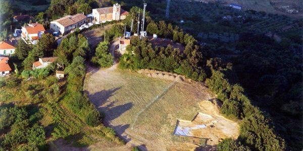 Veduta aerea dello scavo di Parlascio