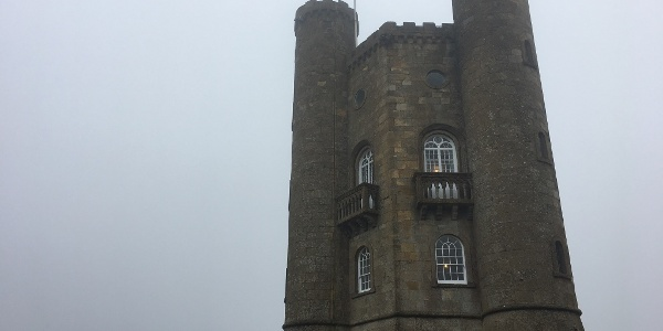 Broadway tower in the mist