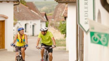 Radfahren in den Weinviertler Kellergassen