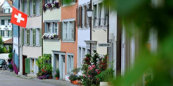Altstadt von Bischofszell mit malerischen Häusern