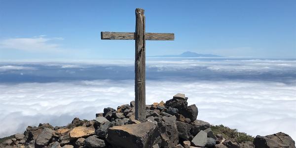 Gipfelkreuz Pico de la Nieve