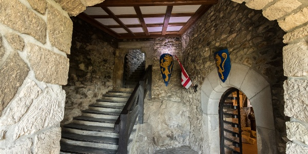 Inside the castle of Hollókő