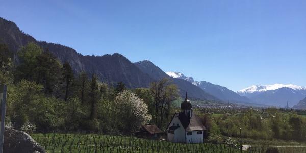 Sicht über das Churer Rheintal