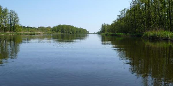 Wegen ihrer breiten Wasseroberfläche und der geringen Fließgeschwindigkeit ist die Peene ideal für entspannte Paddeltouren.