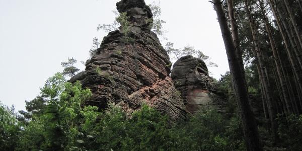 Felsformationen zwischen Lug und Wernersberg