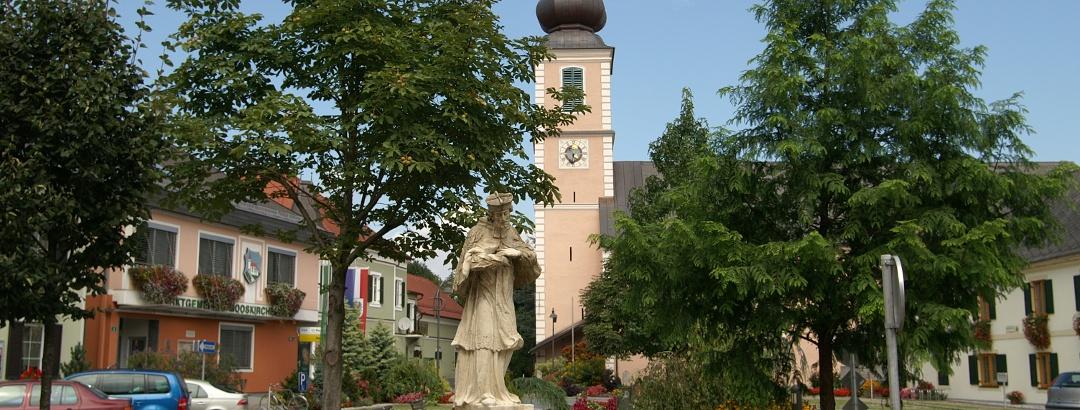 Blick auf den Marktplatz Mooskirchen