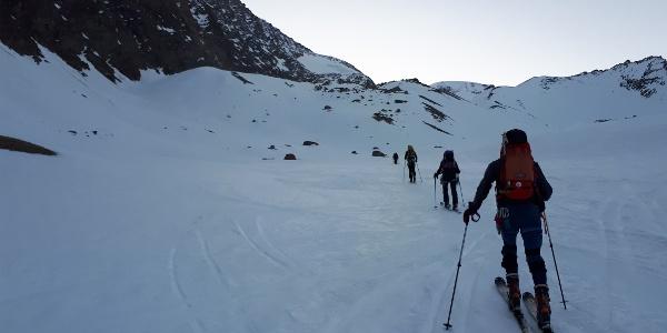 Richtung Alphubelgletscher