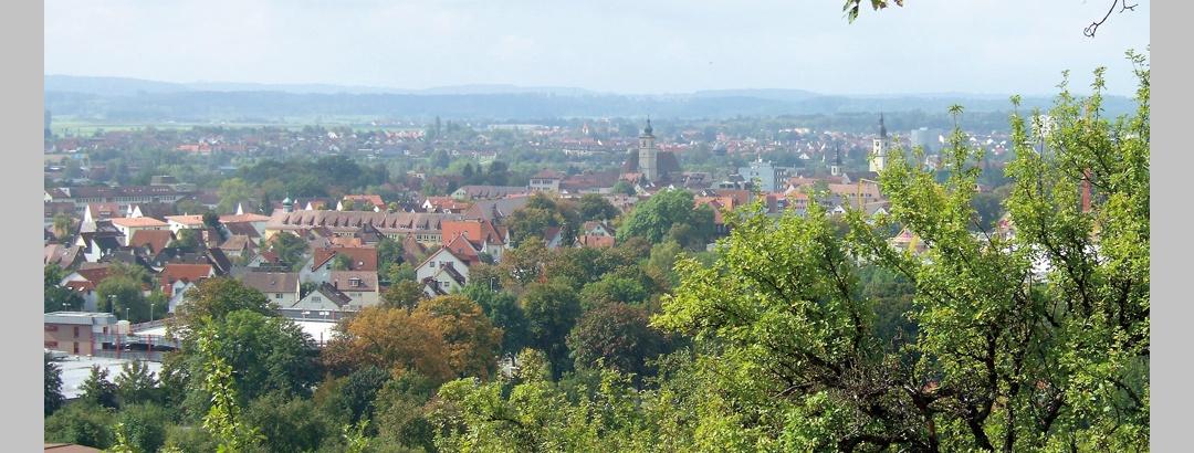 Ausblick vom Kreckelberg auf Crailsheim