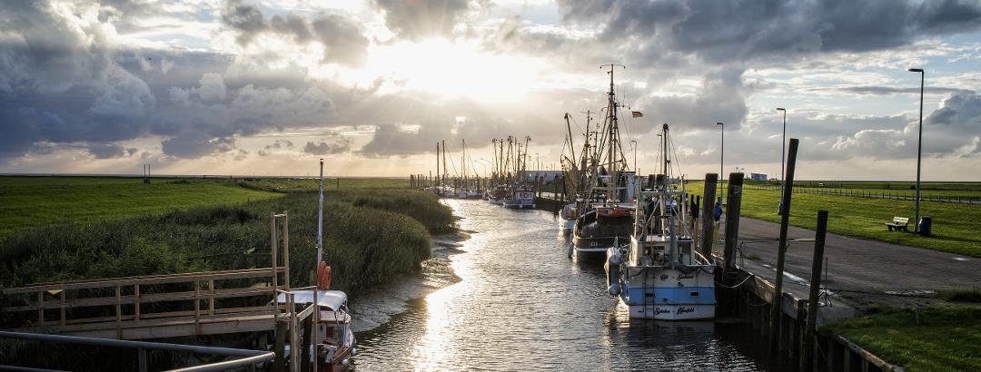 Kutterhafen an der Wurster Nordseeküste; Cuxland