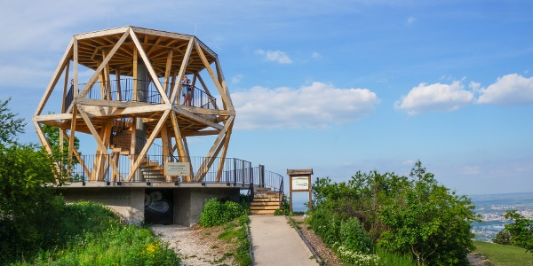 Guckler Károly lookout tower on the top of a former anti-aircraft bunker