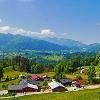 Blick zum Lattengebirge