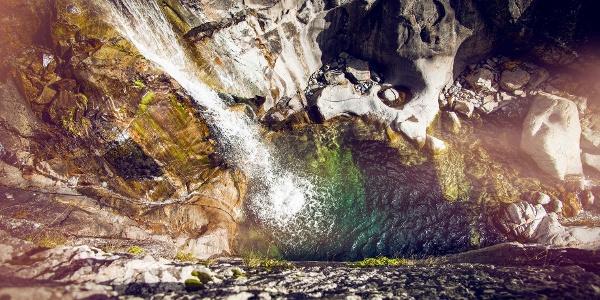 Triège waterfall in Vallée du Trient