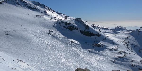 Bergstation Punta Indren und Indrengletscher