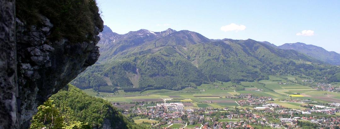 Micheldorf von der Burg Altpernstein aus gesehen