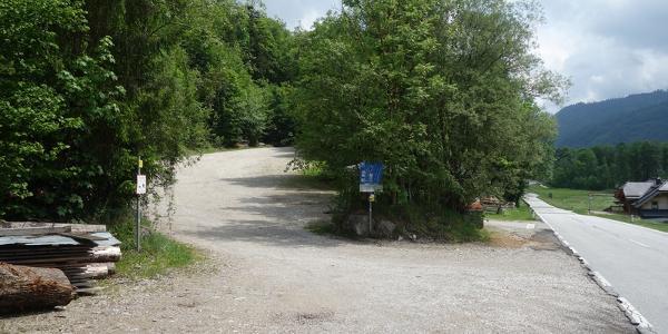 Parkplatz bei Hirschpoint