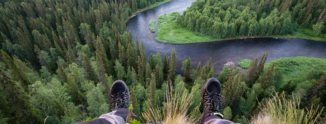 Blick über den Kitka Fluss im Oulanka Nationalpark