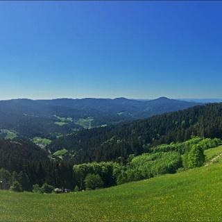 Aussicht in den Schwarzwald am Windenergiepfad