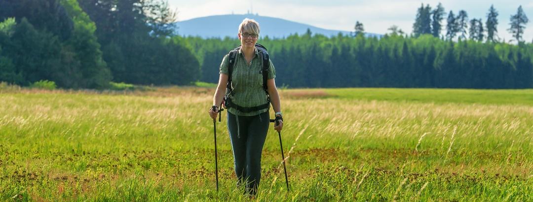Wandern mit Brocken im Hintergrund