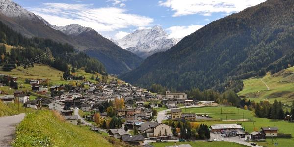 Dorf Liddes in der Region Pays du Saint Bernard.