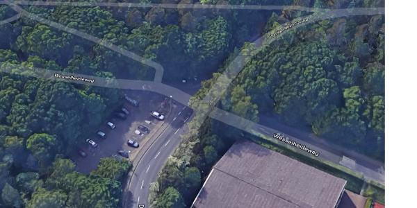 1. Rast bzw. Treffpunkt Parkplatz nahe Reitsportanlage Wesselheide