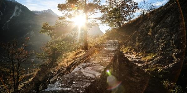Hiking path above Erschmatt