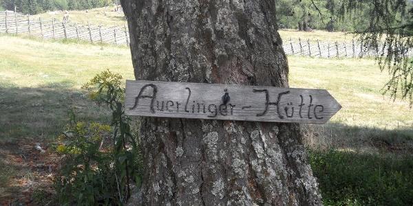 Wegweiser zur Unterauerlinger Hütte