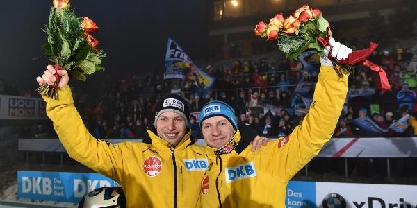 Bobpiloten Nico Walther und Francesco Friedrich