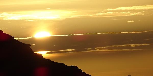 Sonnenaufgang beim Biwak