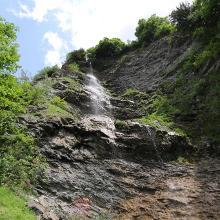 Wasserfall auf dem Rückweg