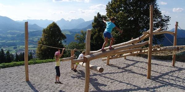 Klettergerüst für Kinder am Wurbauerkogel