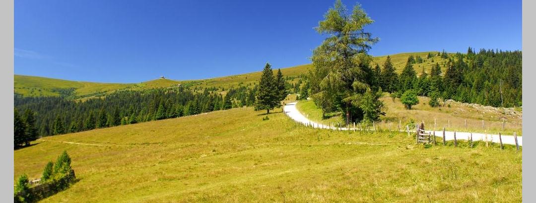 Saualpe - Blick zur Wolfsberger Hütte