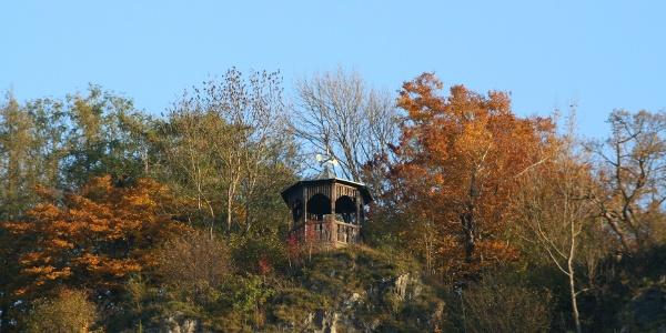 "Blick auf den Pavillon ""Hoher Kleef"""