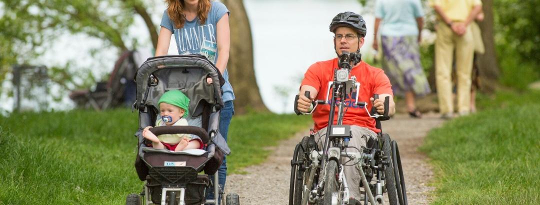 Rollstuhl- und Kinderwagenwanderung, Greifensee