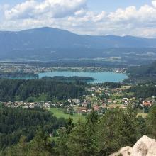 Faaker See, schöne Aussicht vom Samonigg Trail!