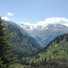 Blick zur Silvretta-Hochalpenstraße