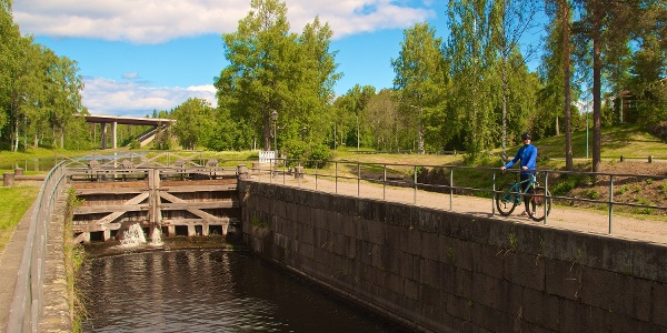 Saimaa-Kanal Altes Schlosstor